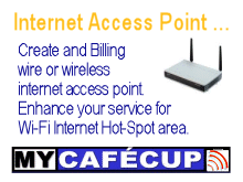 WiFi Hotspot internet gateway manager
